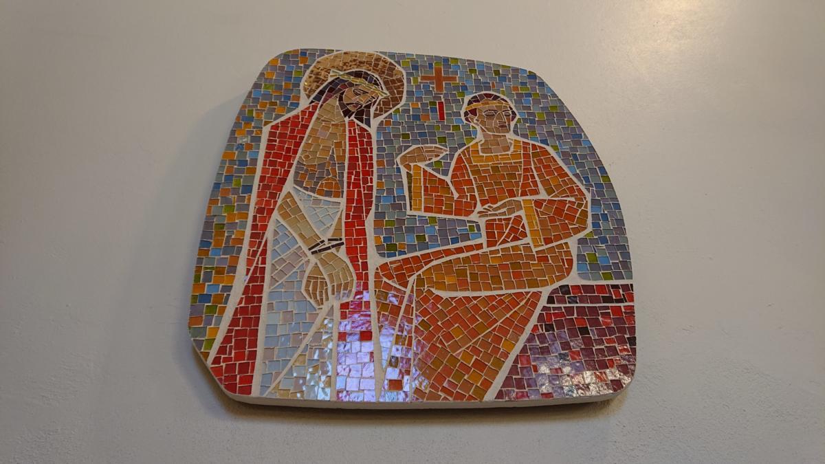Station I: Jesus inför Pontius Pilatus