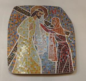 Station VI: Veronica räcker Jesus svetteduken
